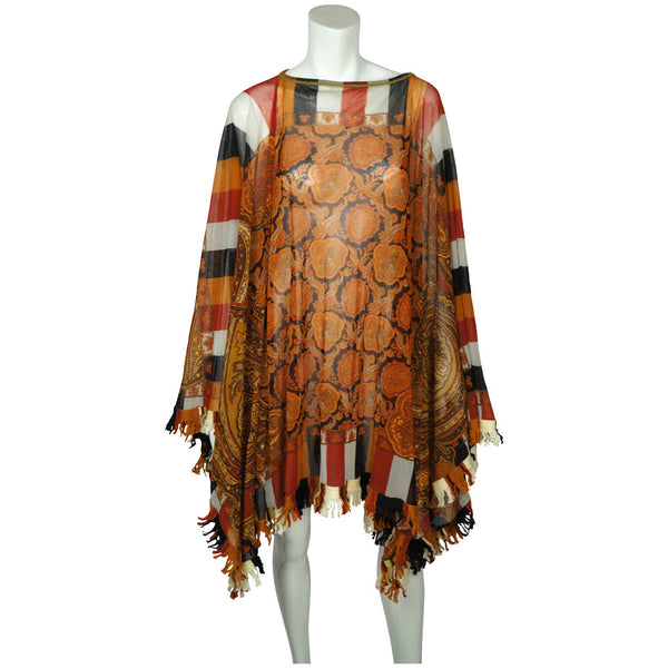 Jean Paul Gaultier Maille Femme Paisley Poncho Nylon Mesh One Size / Medium - Poppy's Vintage Clothing