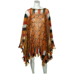 Jean-Paul-Gaultier-Paisley-Mesh-Poncho