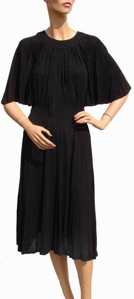 1960s Jean Muir Black Silk Dress