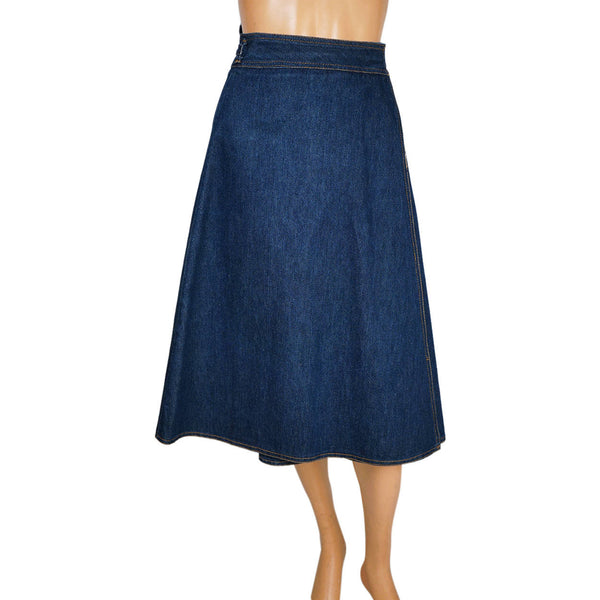 Vintage-1970s-Simpsons-Junior-Bazaar-Denim-Wraparound-Skirt-