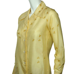Lady-Van-Laack-Yellow-Silk-Shirt-Blouse