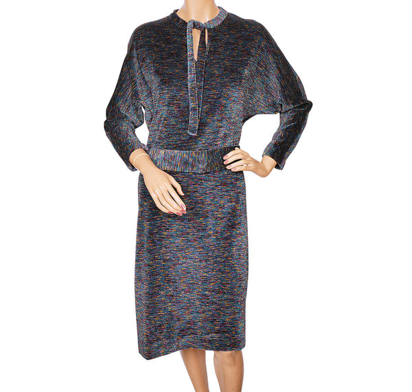 Vintage Lanvin Paris Chenille Dress 1970s Size L