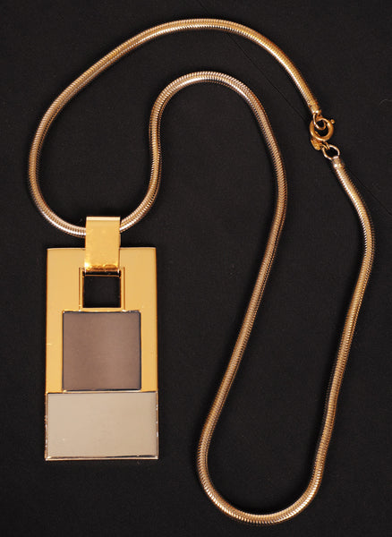 Modernist Lanvin Paris Pendant Necklace 1960s