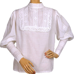 1960s-Laura-Ashley-White-Cotton-Victorian-Blouse