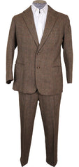 Vintage 1970s Bespoke Tweed Suit Lesley and Roberts London Tweed Run - Poppy's Vintage Clothing