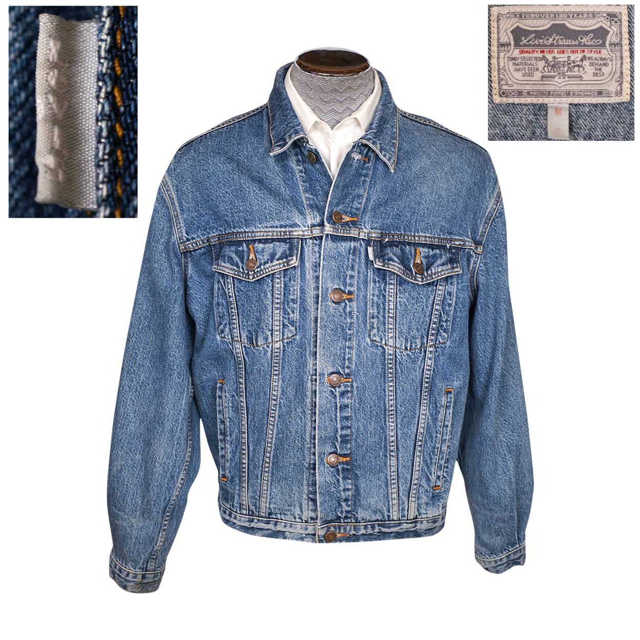 4036d369d4 Levis Denim Trucker Jean Jacket SilverTab Mens M 70507