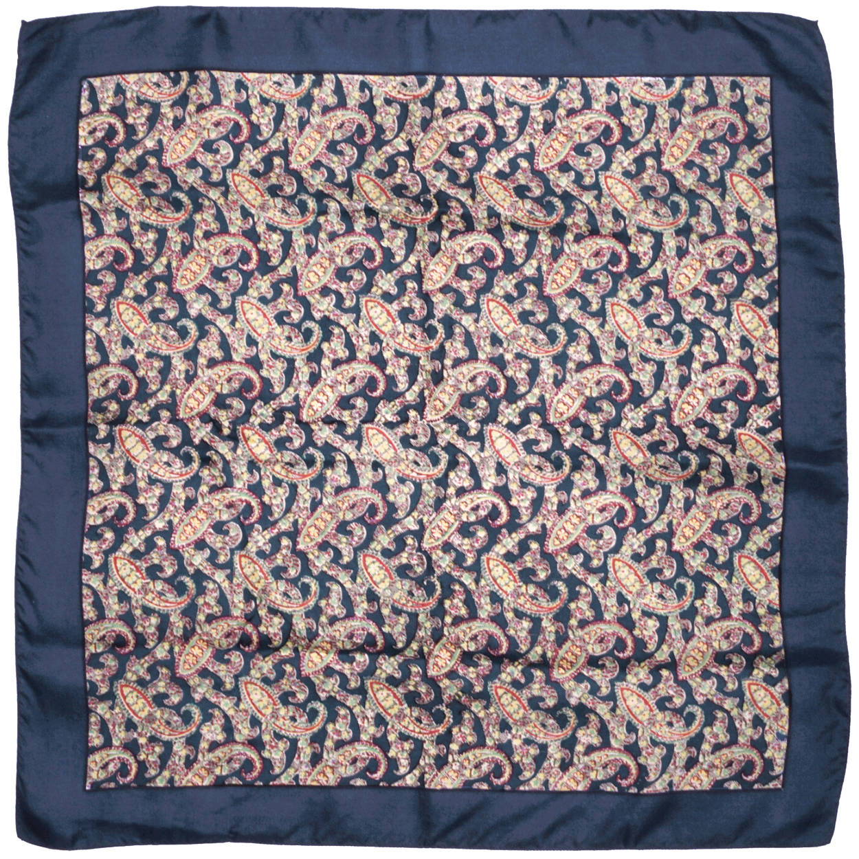 e7274f3f5eecd Vintage 1940s Liberty of London Paisley Silk Scarf Square w Cloth Label -  Poppy's Vintage Clothing