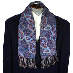 Vintage-Mens-Fringed-Paisley-Scarf