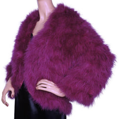 Vintage Lillie Rubin Marabou Feather Disco Jacket Violet Pink Size 12 Large - Poppy's Vintage Clothing