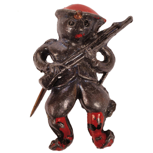 Vintage Little Nemo WWI Doughboy Pin Soldier Brooch Brier Mfg Co - Poppy's Vintage Clothing