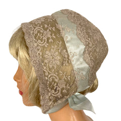 Vintage 1930s Lord & Taylor Chantilly Lace Night Bonnet