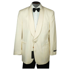 Lubiam Italy Mens White Dinner Jacket Wool by Loro Piana NWT Size 42 R Unused - Poppy's Vintage Clothing