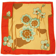Vintage Mod 1960s Maggy Rouff Paris Silk Twill Scarf Made in France - Poppy's Vintage Clothing