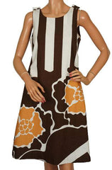 Marimekko Graphic Print  Cotton Dress by Maija Isola Made in Finland Ladies Size S / M