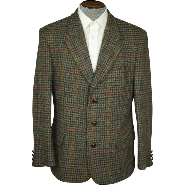 Vintage Houndstooth Harris Tweed Mens Jacket St Michael Size Medium - Poppy's Vintage Clothing