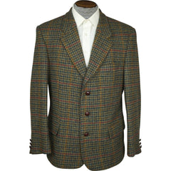 Vintage-St-Michael-Green-Harris-Tweed-Jacket