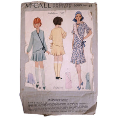 Vintage-1930-McCall-Sewing-Pattern-Girls-Dress-6009