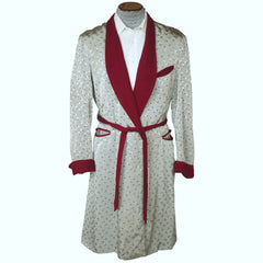 1940s-Shiny-Silver-Grey-Maroon-Mens-Dressing-Gown