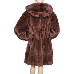 Vintage Faux Fur Coat Michel Alexis Paris 1980s Design Ladies Size M L - Poppy's Vintage Clothing