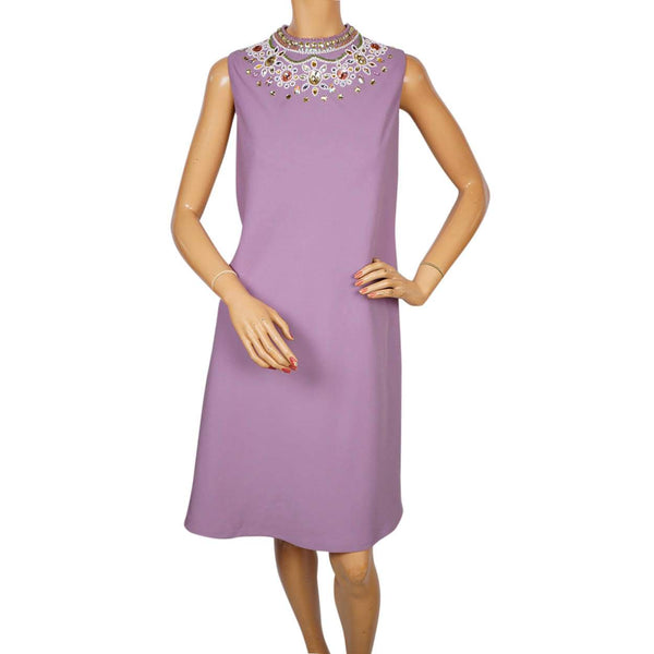 Vintage 1990s Moschino Cheap and Chic Lavender Sheath Dress - L - Poppy's Vintage Clothing