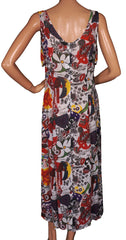 1980s Vintage Chiffon Dress Moschino - Wild Print - Poppy's Vintage Clothing