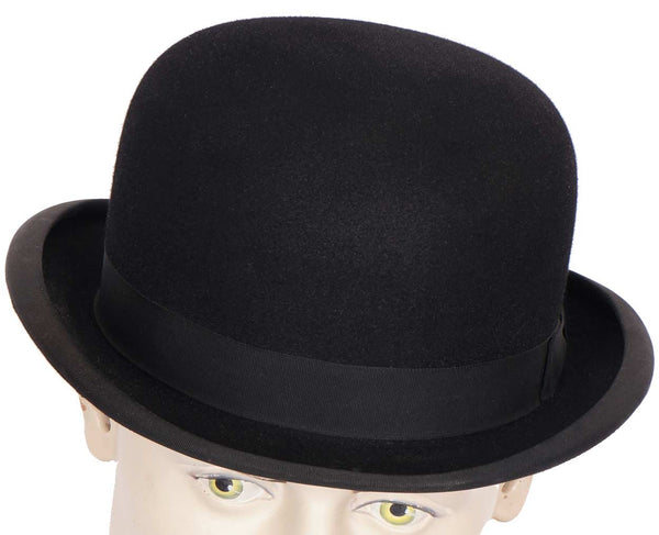 Vintage Mens English Bowler Hat Derby Moss Bros Covent Garden Large 7 3/8 - Poppy's Vintage Clothing
