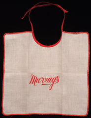 Vintage Murray's Restaurant Child's Bib Montreal Canada Memorabilia 1940s - Poppy's Vintage Clothing