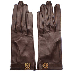NOS-Loewe-1846-Brown-Leather-Gloves