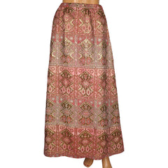 Vintage 1960s Nelly de Grab New York Metallic Brocade Skirt 28 Inch Waist - Poppy's Vintage Clothing