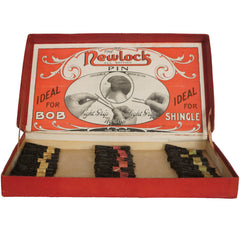 Vintage 1920s Newlock Bobby Pins Original Store Display Box with 648 Bobbie Pins - Poppy's Vintage Clothing