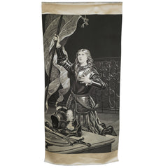 Antique Neyret Freres Stevengraph Woven Silk Picture Joan of Arc 35 Inch - Poppy's Vintage Clothing