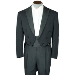 Vintage 1940s Tuxedo Tailcoat Full Dress Tails