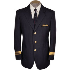 Vintage Nordair Quebec Airline Pilot Uniform Jacket First Officer 1983 Canadian - Poppy's Vintage Clothing