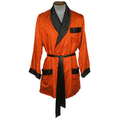 Vintage-Orange-XL-Smoking-Jacket