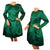 1980s Vintage Dress by Oscar de la Renta for Saks Fifth Avenue in Emerald Green Silk - Poppy's Vintage Clothing