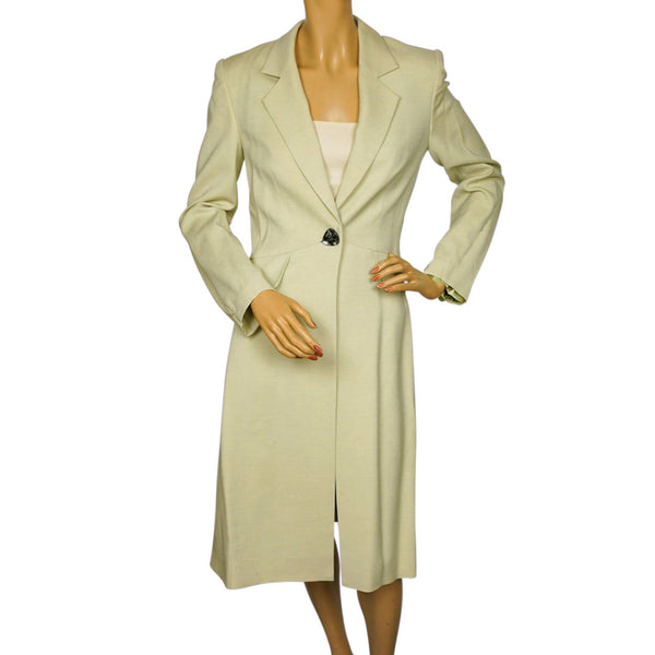 American Designer Pamella Roland Spring Coat Light Green Ladies Size S M - Poppy's Vintage Clothing