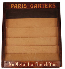 Vintage Paris Garters Mens Socks Store Display Case POP Advertising - Poppy's Vintage Clothing