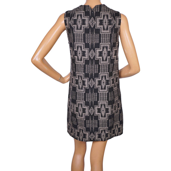 Pendleton Portland Collection Mini Dress Pure Wool Harding Print Large Pre Owned