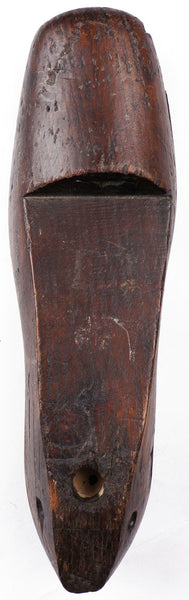Antique Civil War Era Wood Shoe Last by Daniel Shoemaker Philadelphia - Poppy's Vintage Clothing