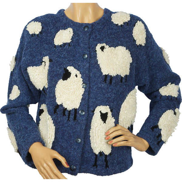 Vintage Novelty Cardigan Sheep Sweater Design Options by Philip & Jane Gordon S - Poppy's Vintage Clothing