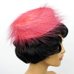 1960s-Pink-Pillbox-Cocktail-Hat