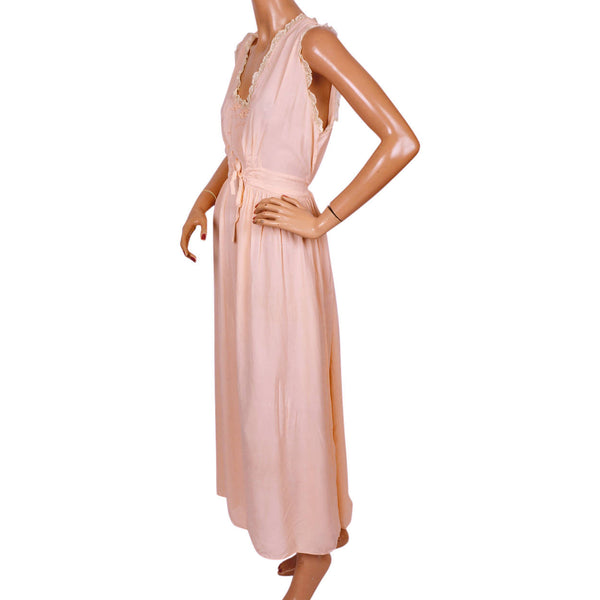 Vintage-1940s-Pink-Rayon-Nightie Vintage-1940s-Pink-Rayon-Nightgown ... e6ba57160