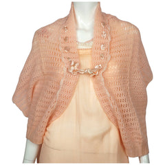1930s-Pink-Wool-Bed-Jacket-Shrug