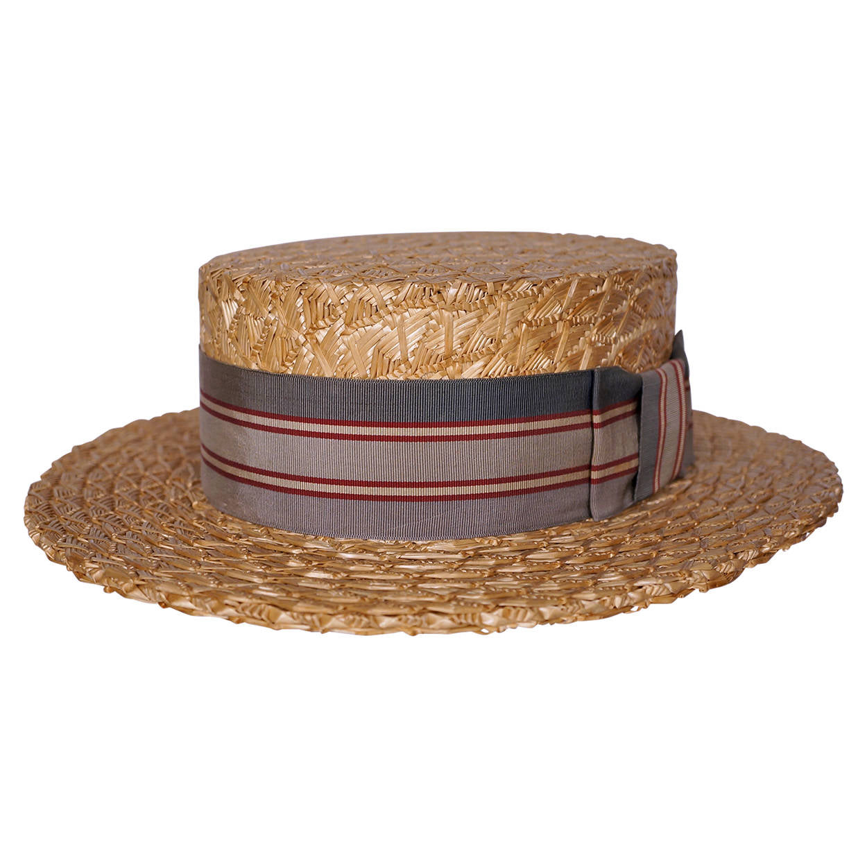 1ab48063e93ee Vintage 1920s English Mens Straw Boater Premier Hat Shops Ottawa Size