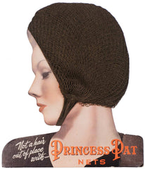 Vintage 1930s Princess Pat Hair Nets on Point of Sale Display - Poppy's Vintage Clothing