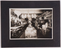 Antique Photo of Quebec Store Interior Fabric Lace Notions Silver Gelatin Print - Poppy's Vintage Clothing