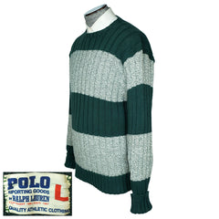 Vintage Ralph Lauren Polo Sporting Goods Sweater Cotton Early 1990s Mens Large - Poppy's Vintage Clothing