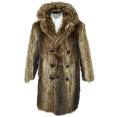 Vintage Mens Raccoon Fur Coat