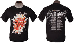 Rolling Stones T Shirt North American Tour A Bigger Bang 2005 Cities Only Small - Poppy's Vintage Clothing
