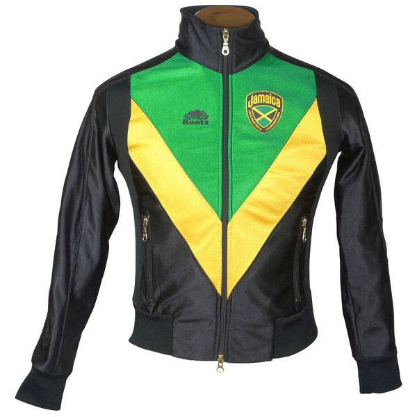Jamaican Bobsled Team Jacket Jamaica Bobsleigh 1988 Olympics Roots Canada Size M - Poppy's Vintage Clothing